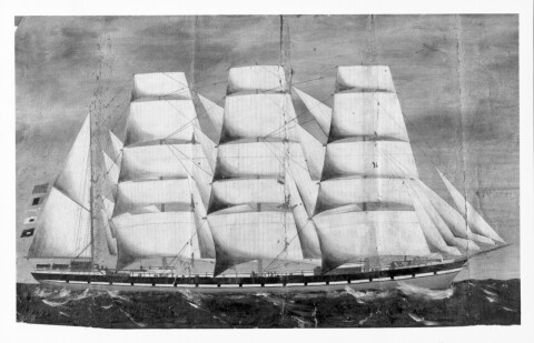 Sailing vessel - General Piction (b/w photo)