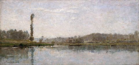 Morning on the Oise, Auvers (oil on board)
