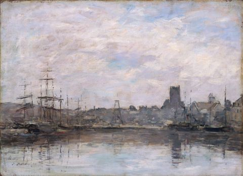 September morning: Port of Fecamp, 1880 (oil on canvas)