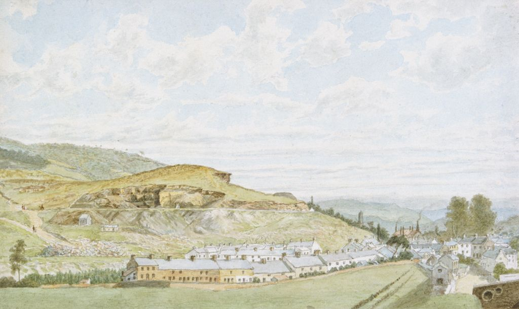 Pontypridd, 1855 (w/c over pencil on paper)