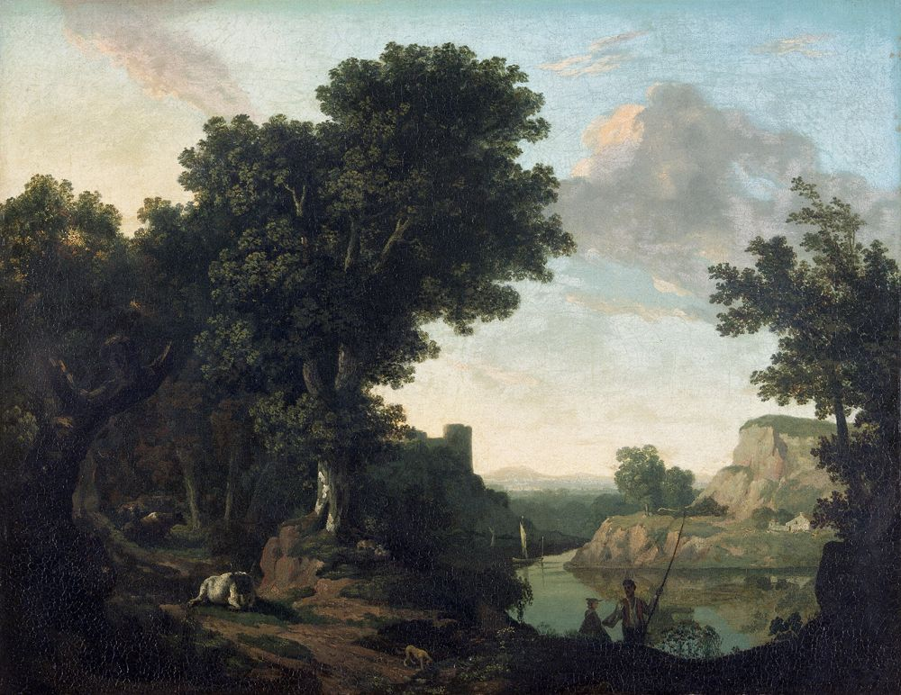 A classical landscape, 1772 (Oil on canvas)
