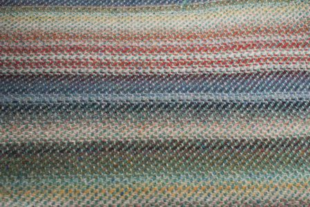 Stripe blanket close up