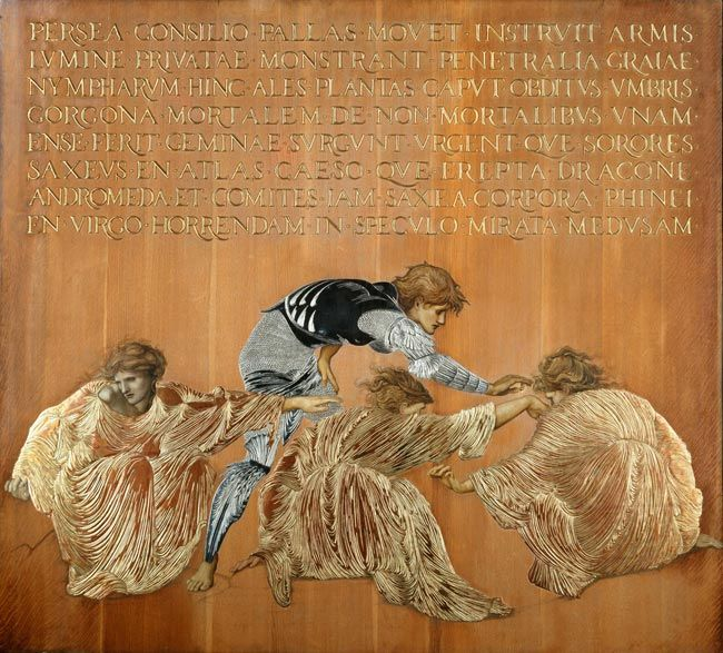 <em>Perseus a'r Graiae</em> Syr Edward Burne-Jones (1833-1898)