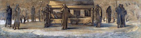 Arthur At Avalon, Burne Jones, 1890