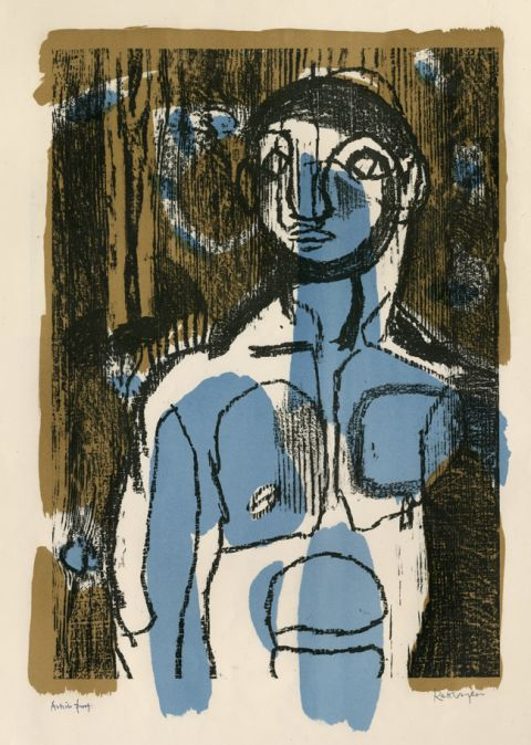 The Woodman also known as The Blue Boy, 1949 © Ystâd of Keith Vaughan