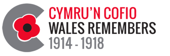 Wales Remembers logo