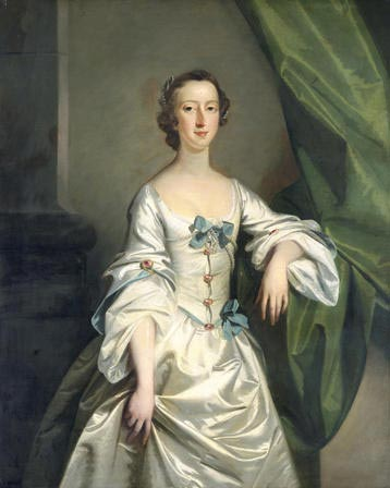 Portread o Foneddiges: Morwyn Anrhydeddus [Portrait of a Lady: Maid of Honour]. Richard Wilson (1714 - 1782)