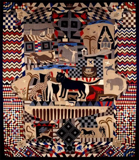 The Tailor's Patchwork Coverlet c. 1842-52: 234cm x 203c