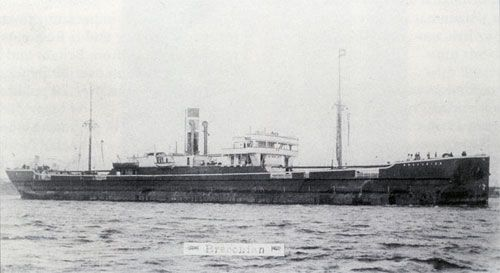 The Breconian waiting to discharge her grain cargo at Rotterdam, 1907