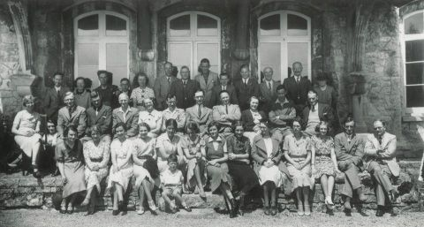 National Museum Wales staff outing late 1930s