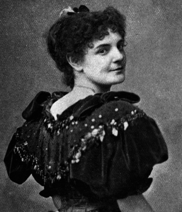 Black and white picture of the conductor Clara Novello Davies