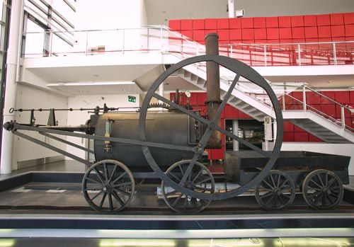 The replica locomotive