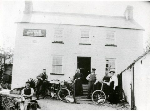Penrhiw Arms, Aber-cuch, 1914.